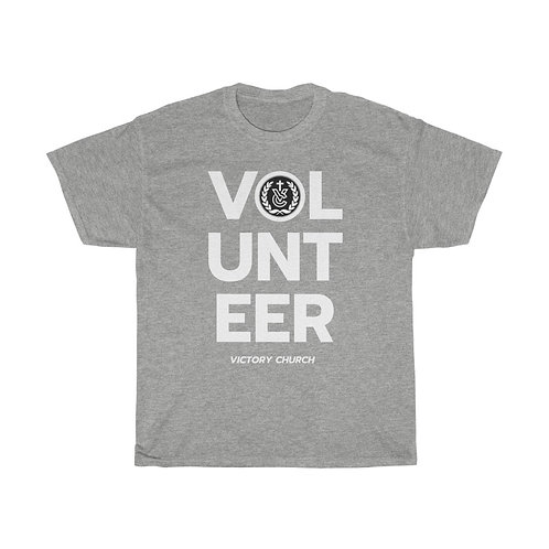 """Volunteer"" Unisex Heavy Cotton Tee"