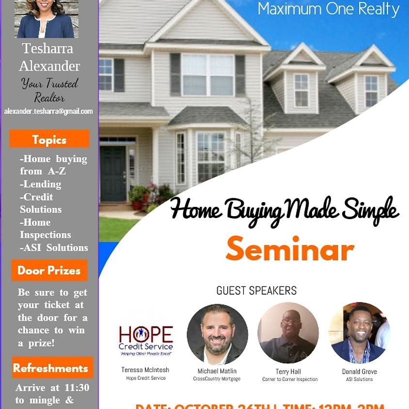 Home Buying Made Simple Seminar!