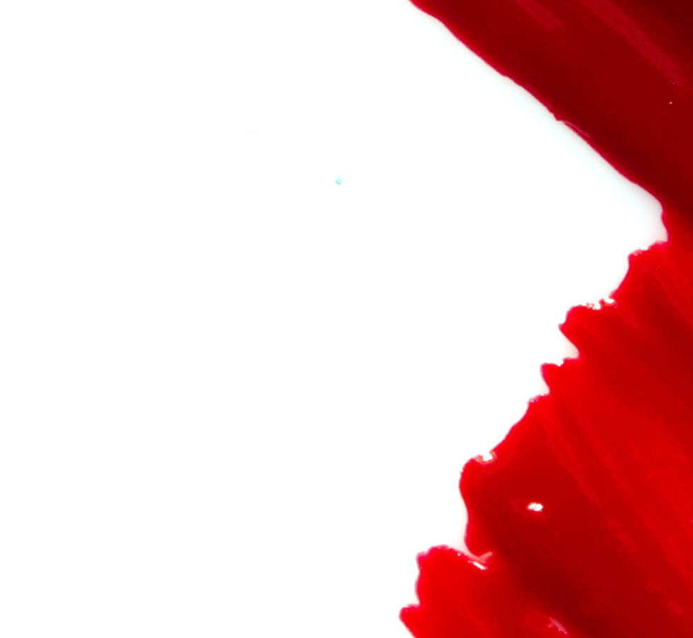 Smear and texture of red lipstick or acr