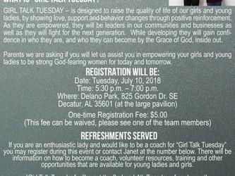 Girl Talk Tuesday!