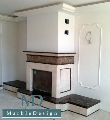 Каминный портал с мозаикой