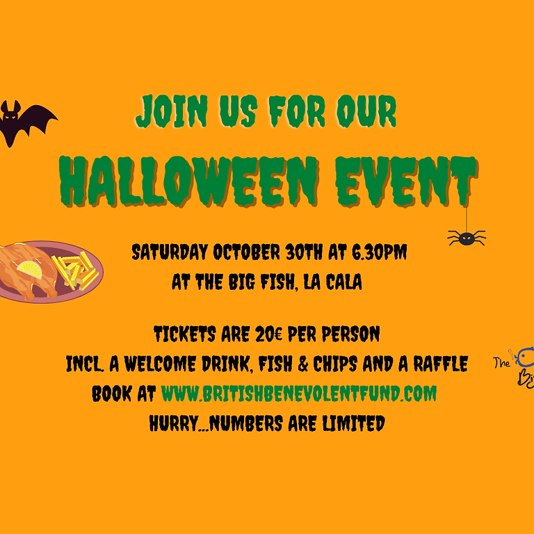 Halloween Charity Fish and Chips Event