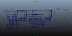 Finished 3D Wireframes for room.