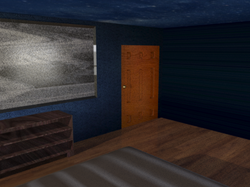Entrance area with textures.