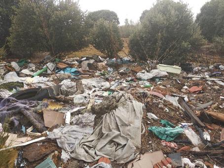 El PSOE de Boadilla denuncia el vertido de escombros en las proximidades de la Ciudad Financiera