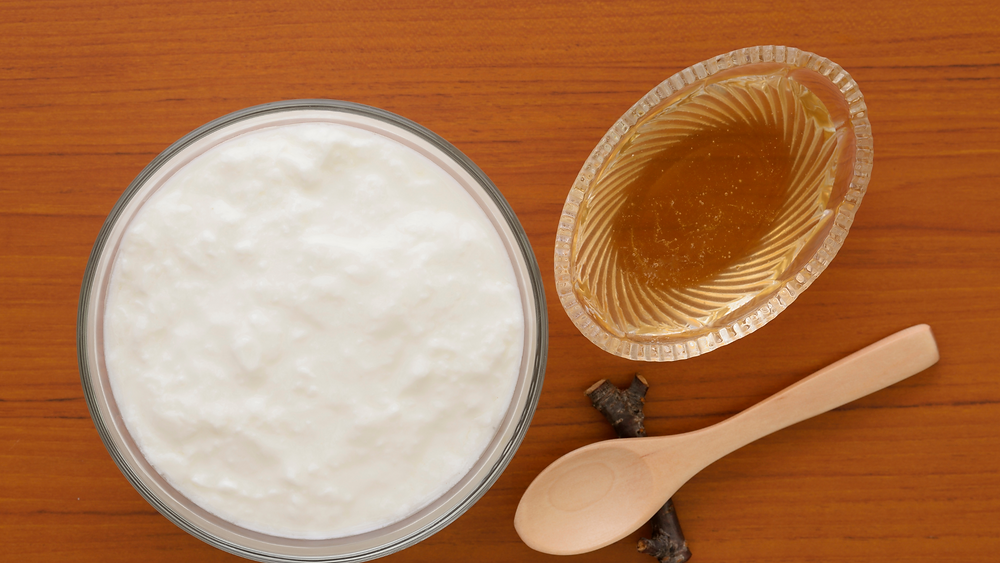 A bowl of Yogurt and Honey
