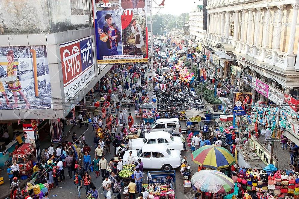 Shopping area in Kolkata