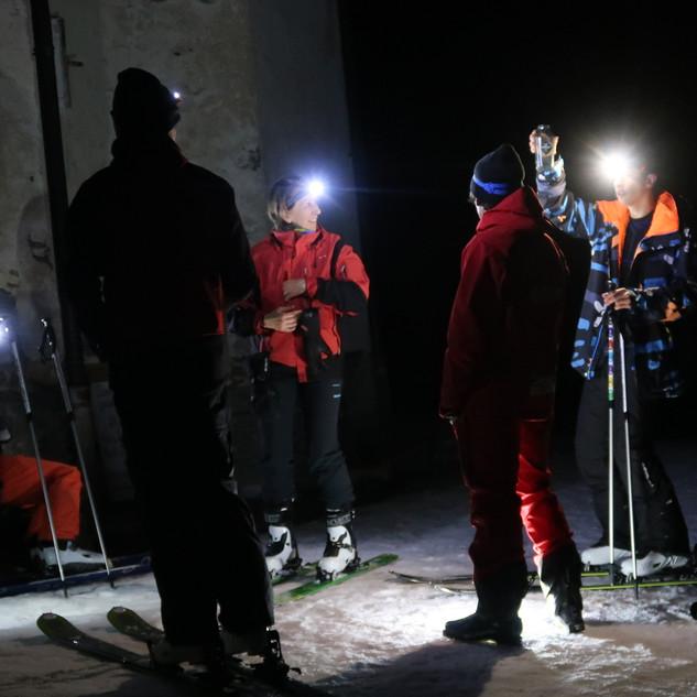ski de randonnée- nuit- nocturne- peisey vallandry- guide de haute montagne- annecy- les arcs