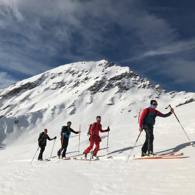 ski de radonnée-annecy-peisey-les arcs-guide de haute montagne-escalade