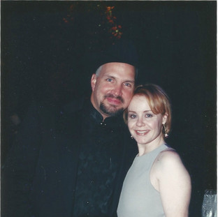 Garth Brooks and Janie at Garth's 100 million records sold party