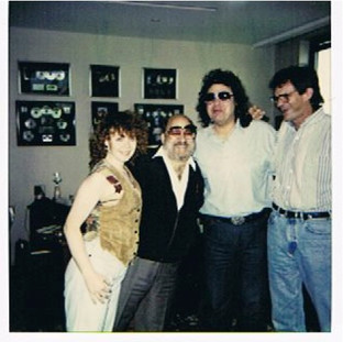 Janie works with Ronnie Milsap (3rd from left) on his project for Capitol Records