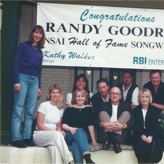 Janie congratulates songwriter Randy Goodrum on being inducted into the Nashville Songwriters Association International Hall of Fame