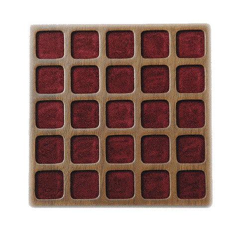 Plateau de 25 Cases carrées