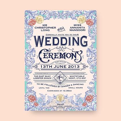 SICILIA WEDDING INVITATION