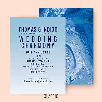 MARBLED WEDDING INVITE