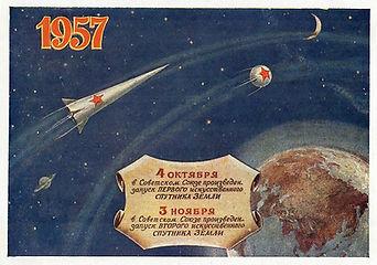 1st and 2nd Sputnik postcard. 1957.jpg