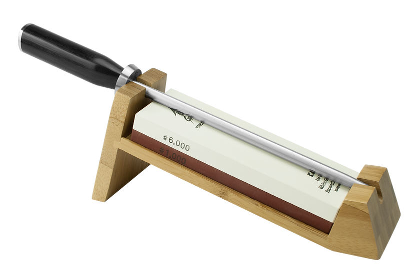 3 Piece Whetstone Sharpening System with Honing Steel