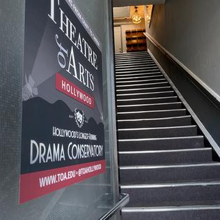 Stairway to TOA studios.
