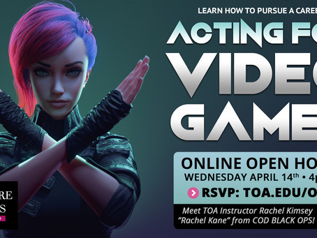 Acting for Video Games Open House