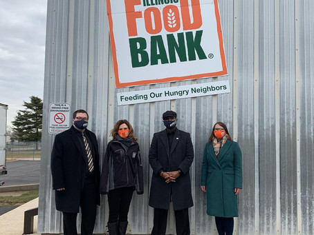 Rep. West & the Illinois Legislative Black Caucus present Northern Illinois Food Bank with $80,000.
