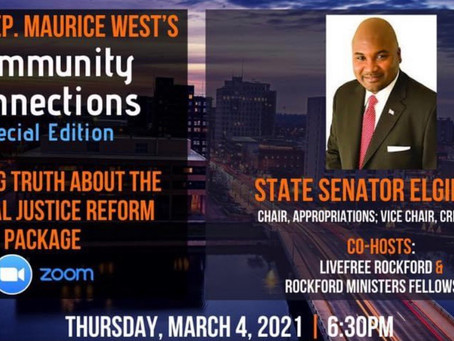 Representative West joins Senator Elgie Sims for discussion of the Criminal Justice Reform Package