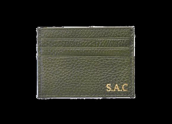 Card holder Green olive