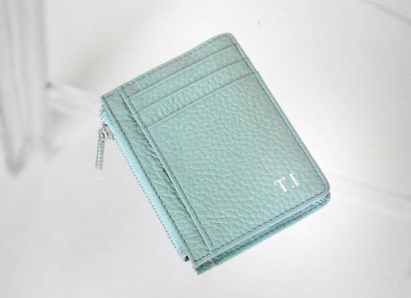 Card Zipper light blue