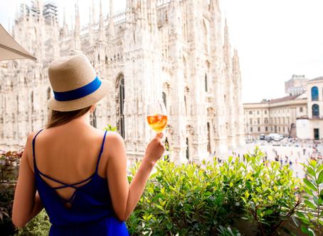 A glam girl in Milan
