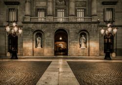 Building on Plaza de la Constitucion, Ba
