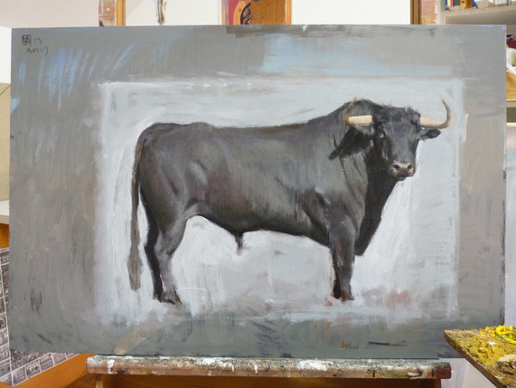 TORO. Prix international Pintaurus. Oil/wood. 50x60cm