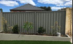Colorbond fence - Colour: Grey Ridge/Slate Grey