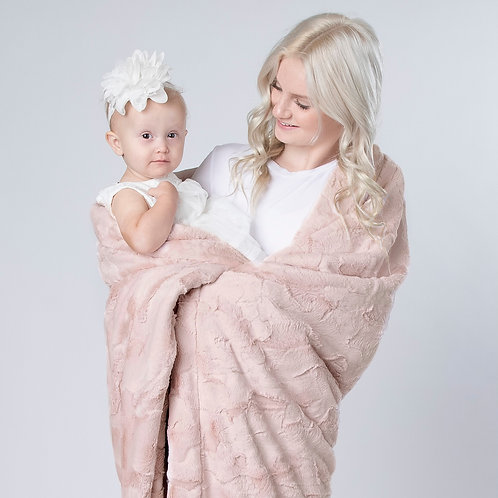 blush pink minky blanket