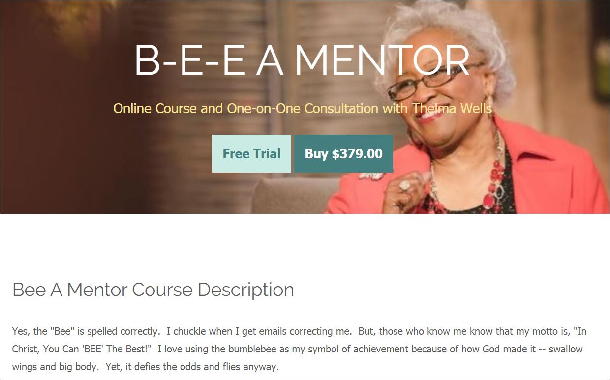 Bee A Mentor Course Instruction