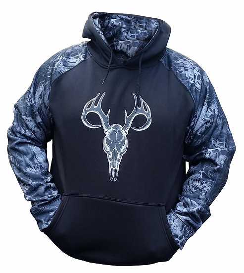 Prym1 Camo Hoodie – Black Out Two Tone with Skull Mount