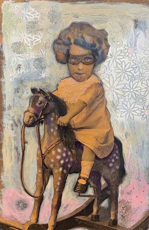 """Dee Hooker - Pony Girl, 36x24"""""""