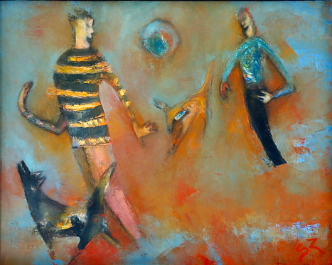 """Suzy Norris Suzy - A Meadow Welcomes Dancing Feet, 17x21"""""""