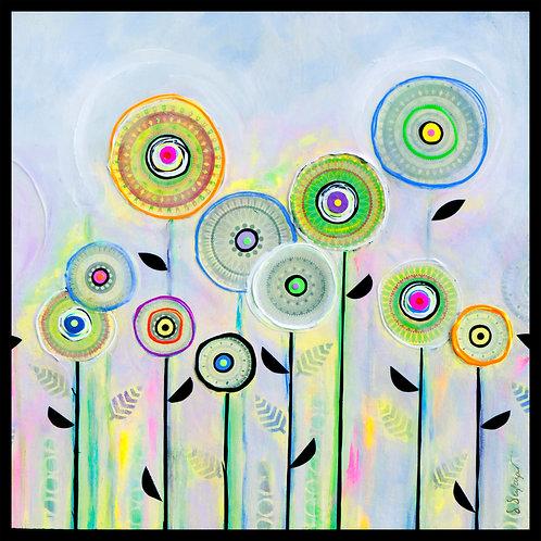 """Danielle Dufayet - Field of Dreams, 20x20"""""""