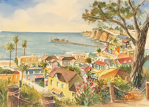Sally Bookman - Capitola, Coastal Morning 21x26""