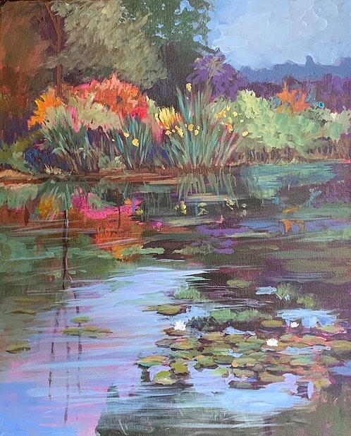 "Sally Bookman - Monet's Garden, 20x16"""