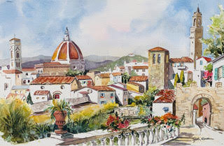 Sally Bookman - Italy Florence Rooftops