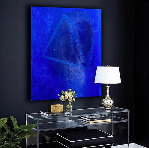 "Lou Bermingham - Blue Pyramid 48 x30"""