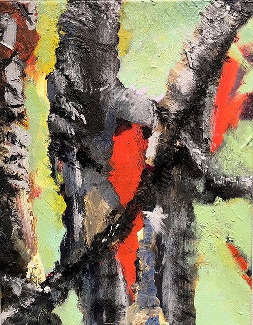"""Jim Potterton - Tree Pain 14x11"""""""