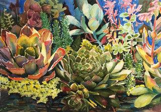 Sally Bookman - Succulent Garden III