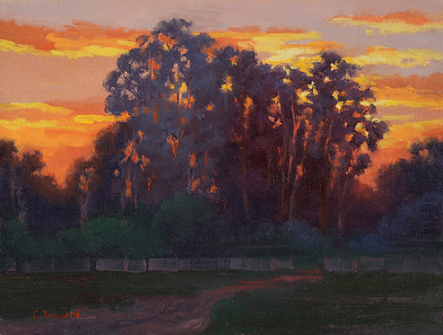 Ellen Howard - Sunset Time, 9x12 inches