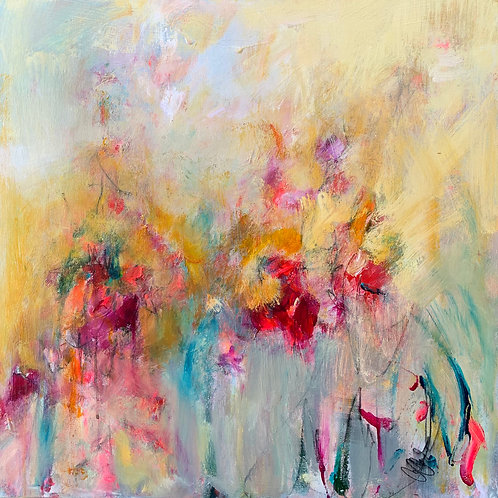 Carrie Clayden - Love is in the Air, 24x24""