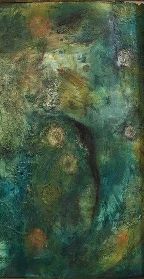 """Ellen O'Hanlon - Dreaming in Green, 35x23"""""""