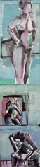 Gail Ragains, Pillar Gesture Pink & Blue