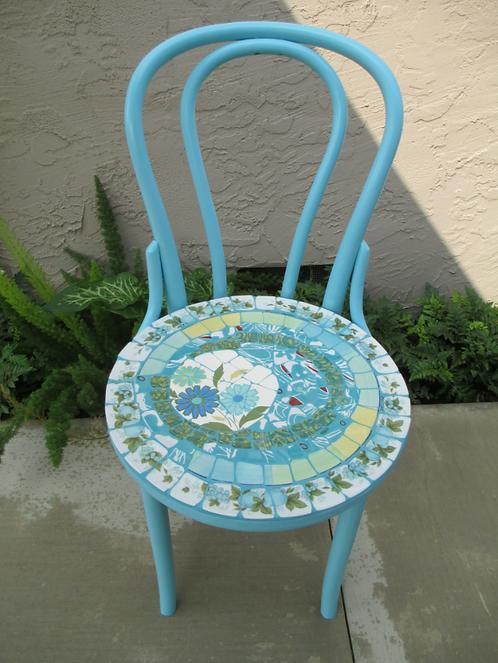 "Robin Russell - Blue Chair, 32"""