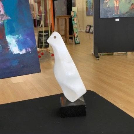 Jeff Arnett - Albino Penguin, 14 x 4 inches