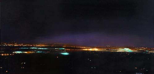 "Reid Winfrey - 101 Palo Alto North to San Jose, 51.5 x 26"""